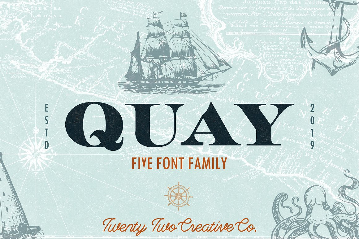 Download Free Quay Font By Twenty Two Creative Fabrica for Cricut Explore, Silhouette and other cutting machines.