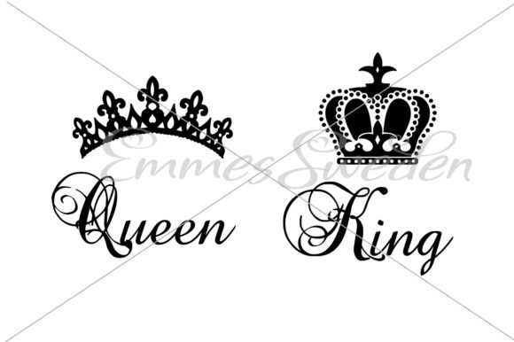 Download Free Queen King Crown Svg Graphic By Emmessweden Creative Fabrica for Cricut Explore, Silhouette and other cutting machines.