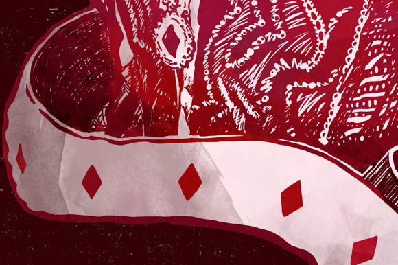 Download Free Queen Of Diamonds In Red Clipart Graphic By Milaski Creative for Cricut Explore, Silhouette and other cutting machines.