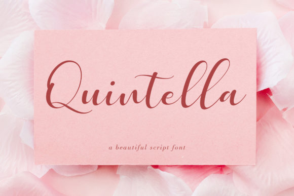 Print on Demand: Quintella Script & Handwritten Font By Uloel Design - Image 2