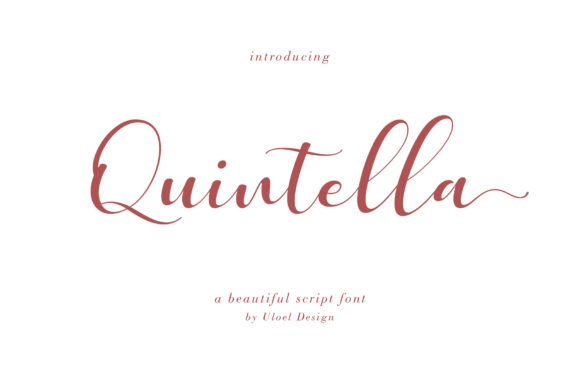 Print on Demand: Quintella Script & Handwritten Font By Uloel Design