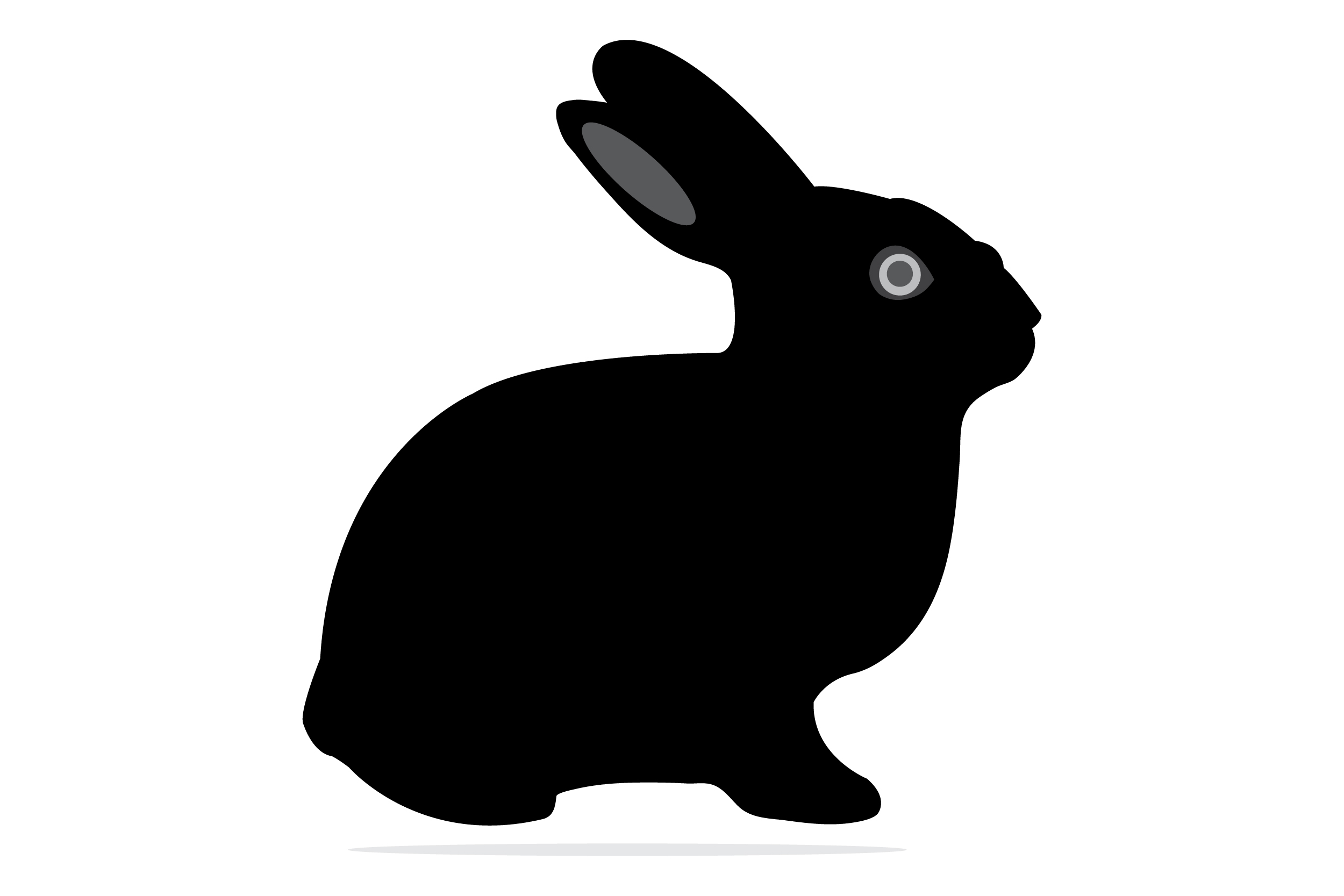 Download Free Rabbit Vector Graphic By Wheelytinarha97 Creative Fabrica for Cricut Explore, Silhouette and other cutting machines.