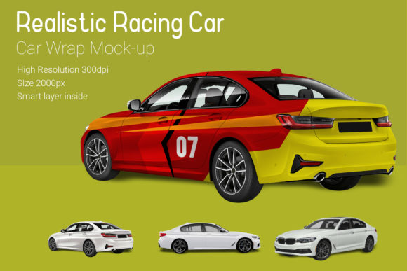 Racing Car Mocku-Up Graphic By gumacreative Image 2