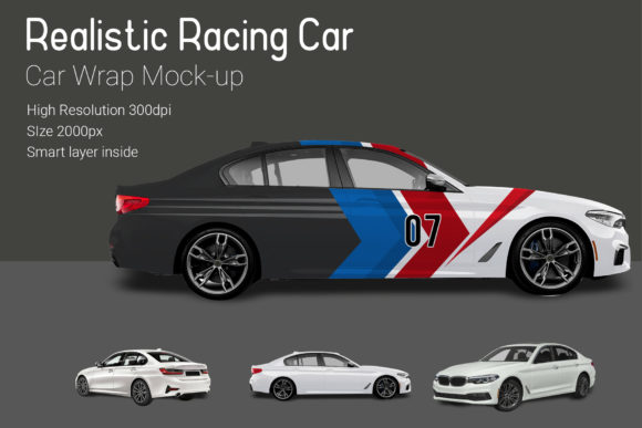 Racing Car Mocku-Up Graphic By gumacreative Image 3
