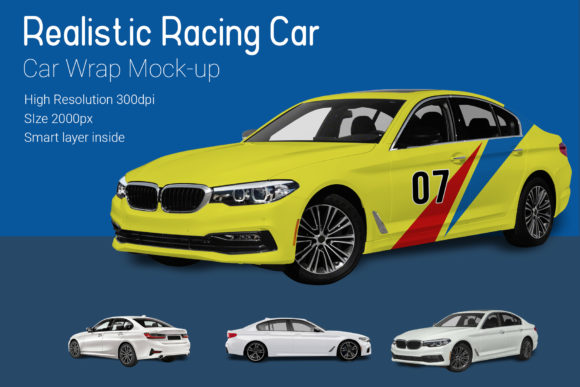 Racing Car Mocku-Up Graphic By gumacreative Image 1