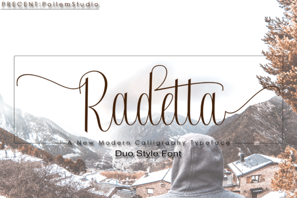Print on Demand: Radetta Script & Handwritten Font By Polem - Image 1