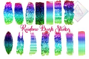 Rainbow Brush Strokes Clipart Graphic By fantasycliparts