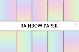Rainbow Paper Graphic By JulieCampbellDesigns