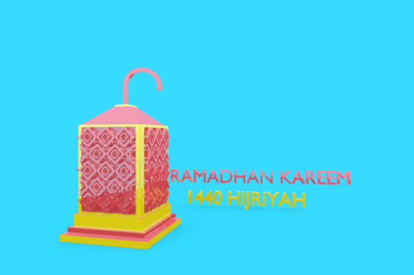 Print on Demand: Ramadan Lantern Pack Graphic Backgrounds By mozyenstudio - Image 3