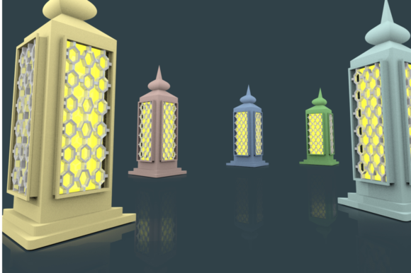 Print on Demand: Ramadan Lantern Pack Graphic Backgrounds By mozyenstudio - Image 7