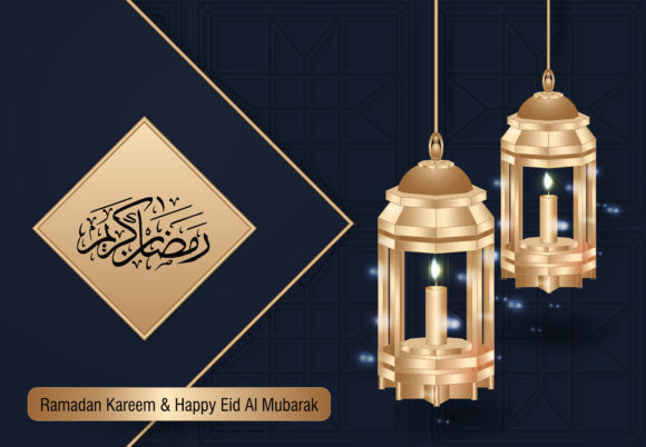 Ramadan and Happy Eid Luxury Background Graphic Backgrounds By SugarV_Creative
