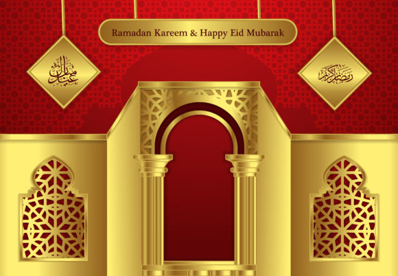 Ramadan and Happy Eid Modern Background Graphic Backgrounds By SugarV_Creative