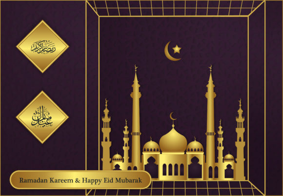 Ramadan and Ied Modern Background Graphic Backgrounds By SugarV_Creative