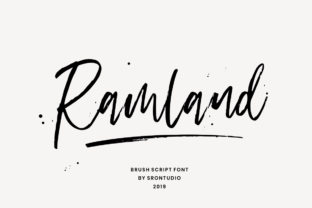 Print on Demand: Ramland Script & Handwritten Font By Sronstudio