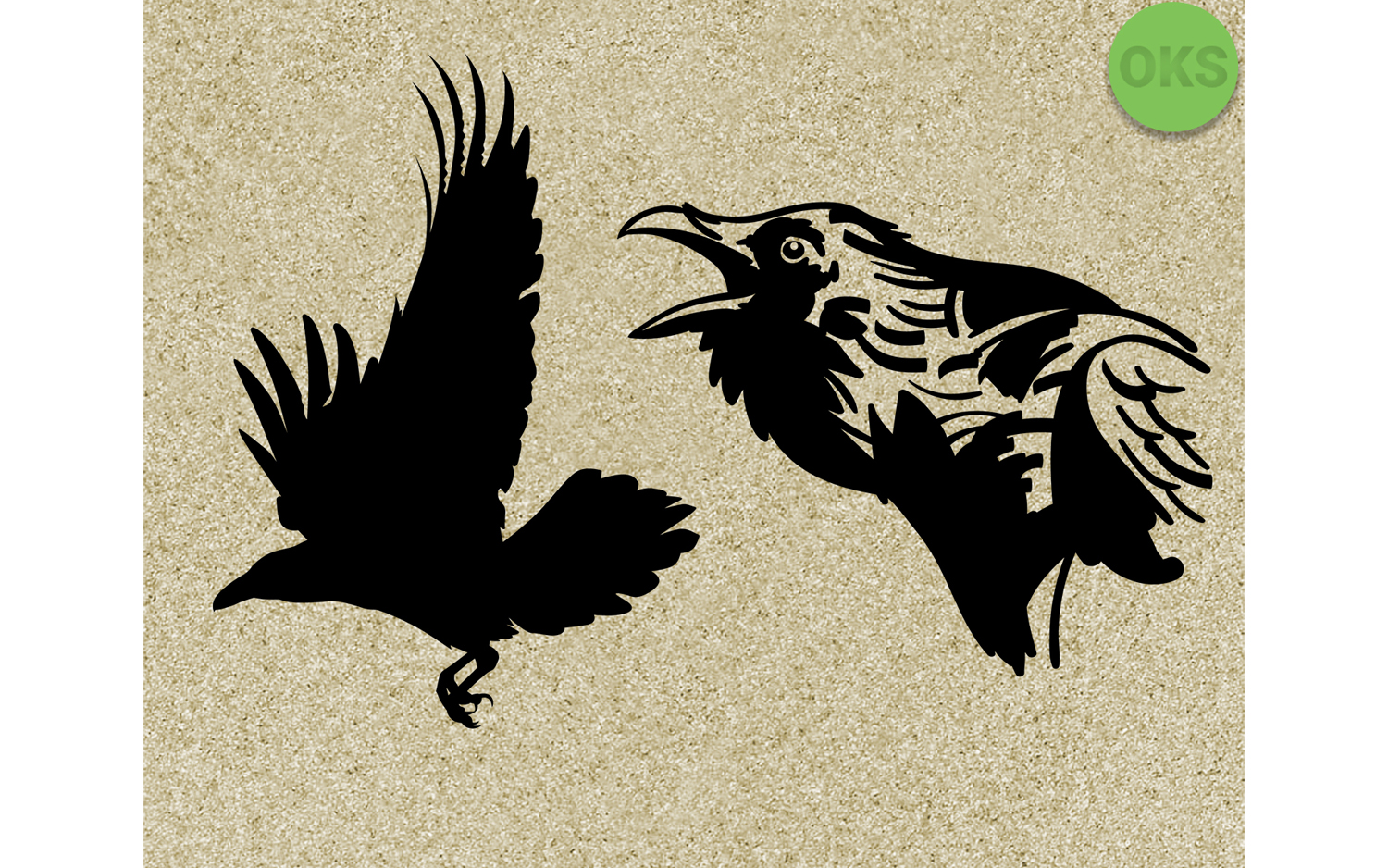 Download Free Raven Vector Clipart Graphic By Crafteroks Creative Fabrica for Cricut Explore, Silhouette and other cutting machines.