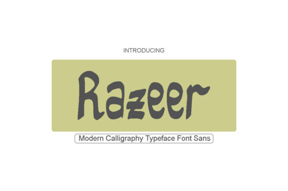 Print on Demand: Razeer Sans Serif Font By Imun Studio