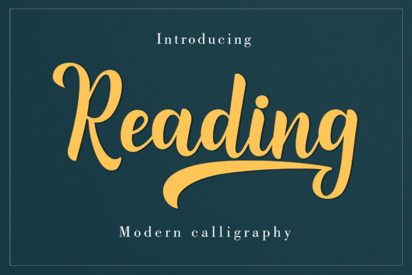 Print on Demand: Reading Script Script & Handwritten Font By Amarlettering