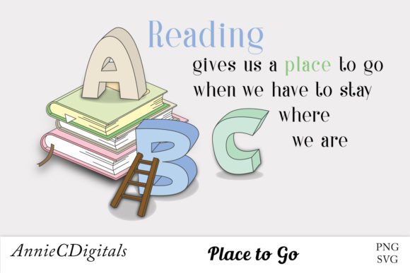 Download Free Reading Graphic Clip Art Cute Sayings Graphic By for Cricut Explore, Silhouette and other cutting machines.