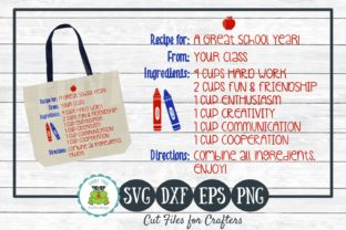 Download Free Recipe For A Great School Year Graphic By for Cricut Explore, Silhouette and other cutting machines.