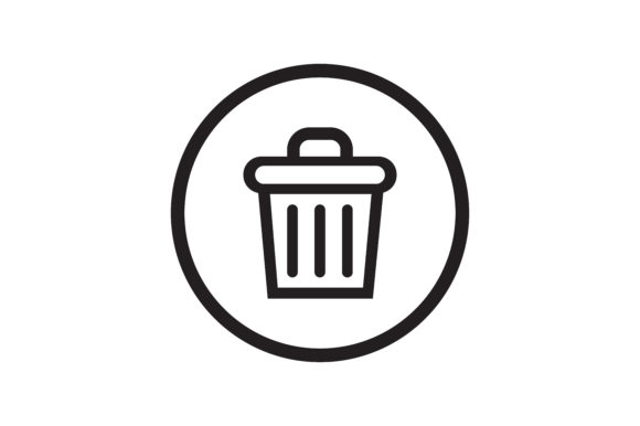 Download Free Recycle Bin Icon Graphic By Zafreeloicon Creative Fabrica for Cricut Explore, Silhouette and other cutting machines.