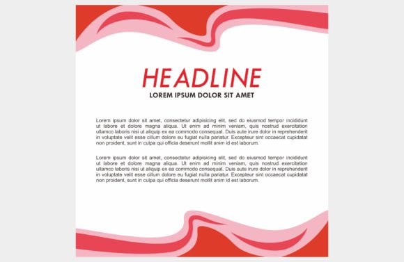 Red Background Frame Graphic Backgrounds By dstudio