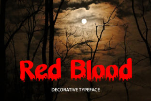Red Blood Font By da_only_aan