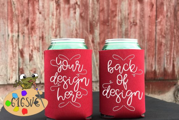 Red Can Cooler Mockup Graphic Product Mockups By 616SVG
