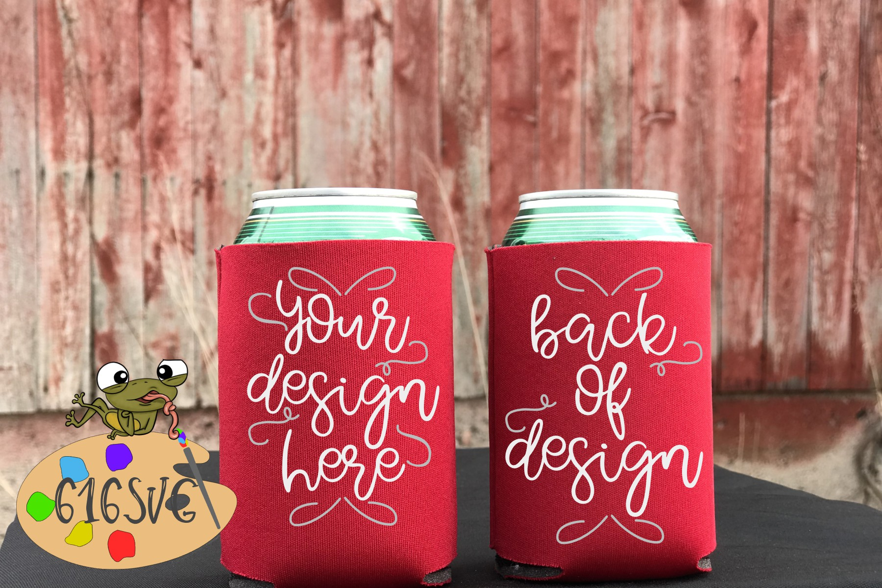 Download Free Red Can Cooler Mockup Graphic By 616svg Creative Fabrica for Cricut Explore, Silhouette and other cutting machines.
