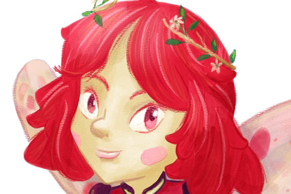 Download Free Red Hair Fairy Girl Fairy Forest Clipart Transparent for Cricut Explore, Silhouette and other cutting machines.