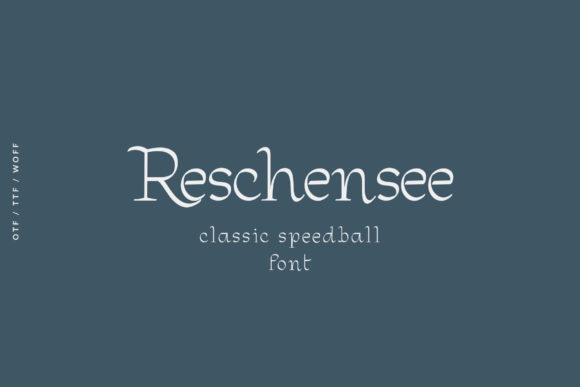 Print on Demand: Reschensee Display Font By e.myself12