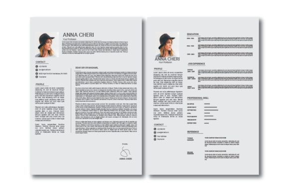 Download Free Resume Cv Template Graphic By Nirmala Graphics Creative Fabrica for Cricut Explore, Silhouette and other cutting machines.