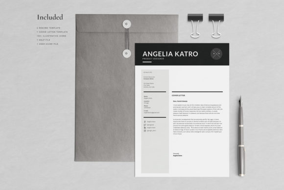 Download Free Resume Template 3 Pages Katro Graphic By Blancalab Studio for Cricut Explore, Silhouette and other cutting machines.