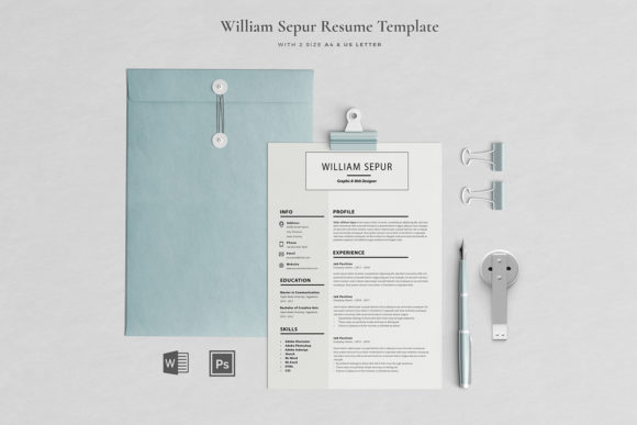Print on Demand: Resume Template 3 Pages Graphic Print Templates By Blancalab Studio
