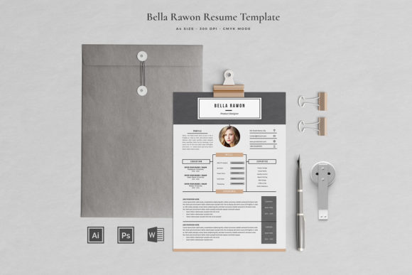 Resume Template 4 Pages Rawon