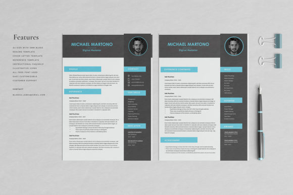 Resume Template 4 Pages   Martono