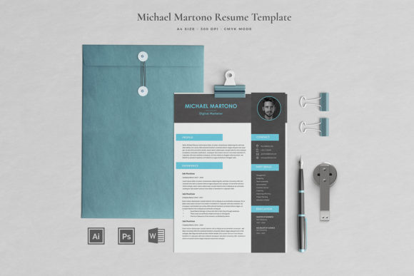 Resume Template 4 Pages | Martono