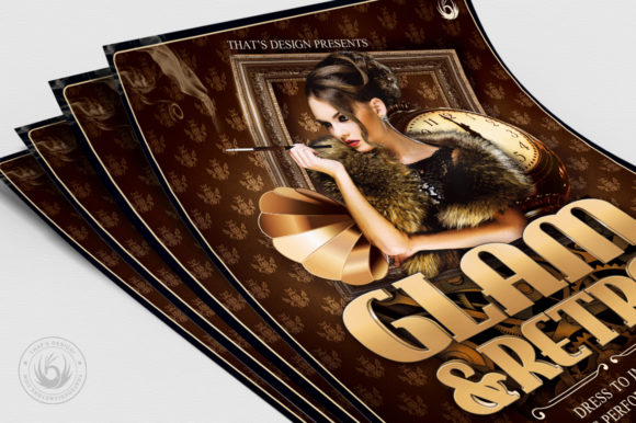 Retro Glam Flyer Template V2 Graphic By ThatsDesignStore Image 5