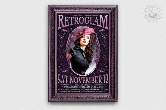 Retro Glam Flyer Template V3 Graphic By ThatsDesignStore