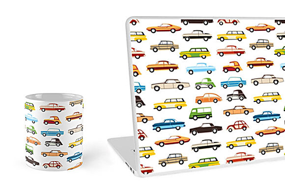 Print on Demand: Retro Cars and Trains Graphic Icons By AlexZel - Image 2