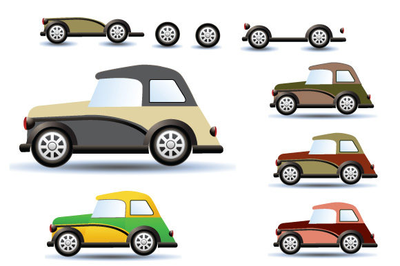 Print on Demand: Retro Cars and Trains Graphic Icons By AlexZel - Image 4