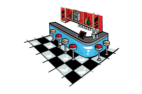 Download Free Retro Diner Svg Cut File By Creative Fabrica Crafts Creative for Cricut Explore, Silhouette and other cutting machines.