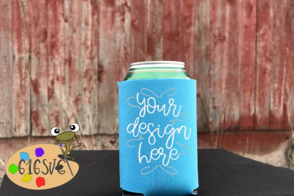 Robin Egg Blue Can Cooler Mockup Graphic Product Mockups By 616SVG