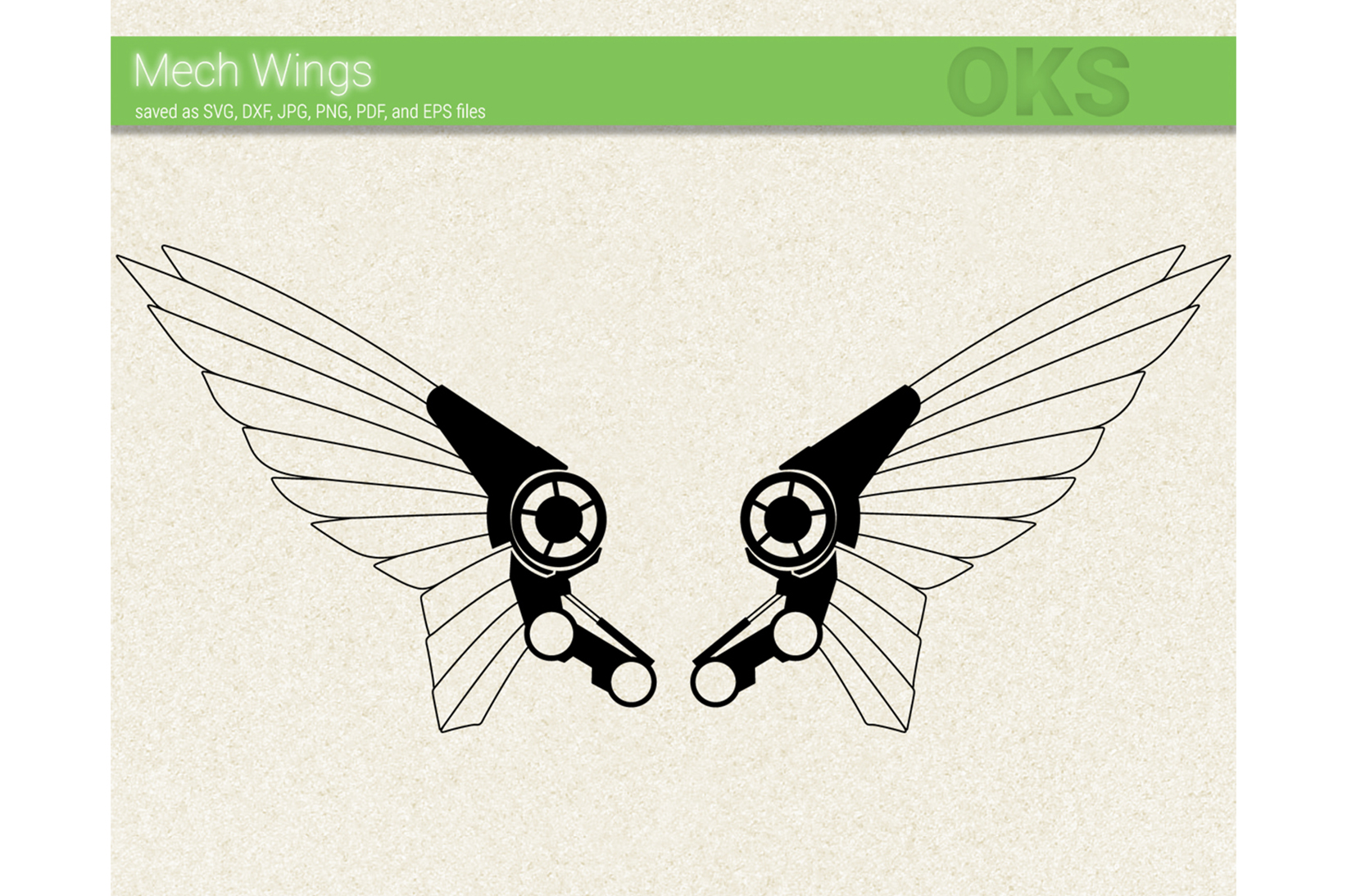 Download Free Robot Wing Graphic By Crafteroks Creative Fabrica for Cricut Explore, Silhouette and other cutting machines.