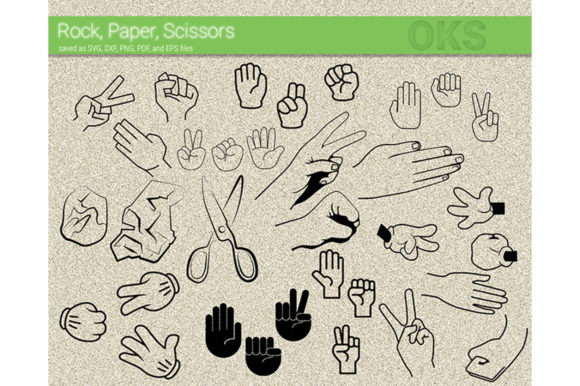 Download Free Rock Paper Scissors Svg Vector Hand Sign Graphic By Crafteroks for Cricut Explore, Silhouette and other cutting machines.