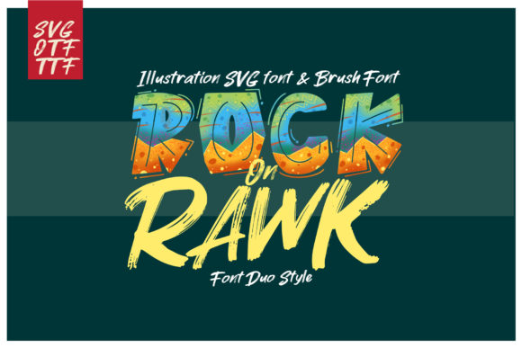 Rock on Rawk Display Font By DK Project