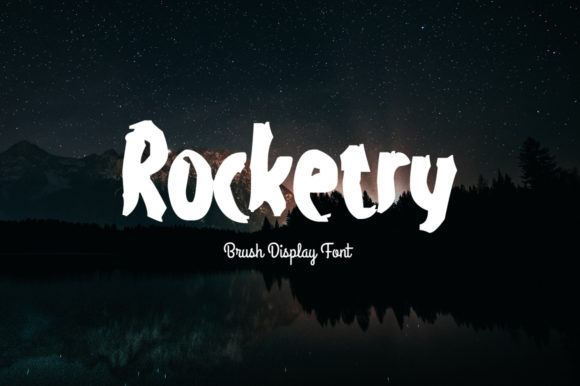 Print on Demand: Rocketry Display Font By FontCove