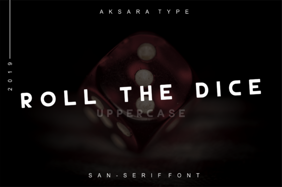 Print on Demand: Roll the Dice Sans Serif Font By Freegoodstock