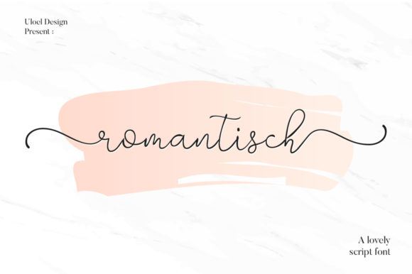 Print on Demand: Romantisch Script & Handwritten Font By Uloel Design