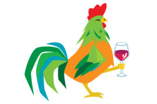 Rooster Holding Wine Portugal Craft Cut File By Creative Fabrica Crafts