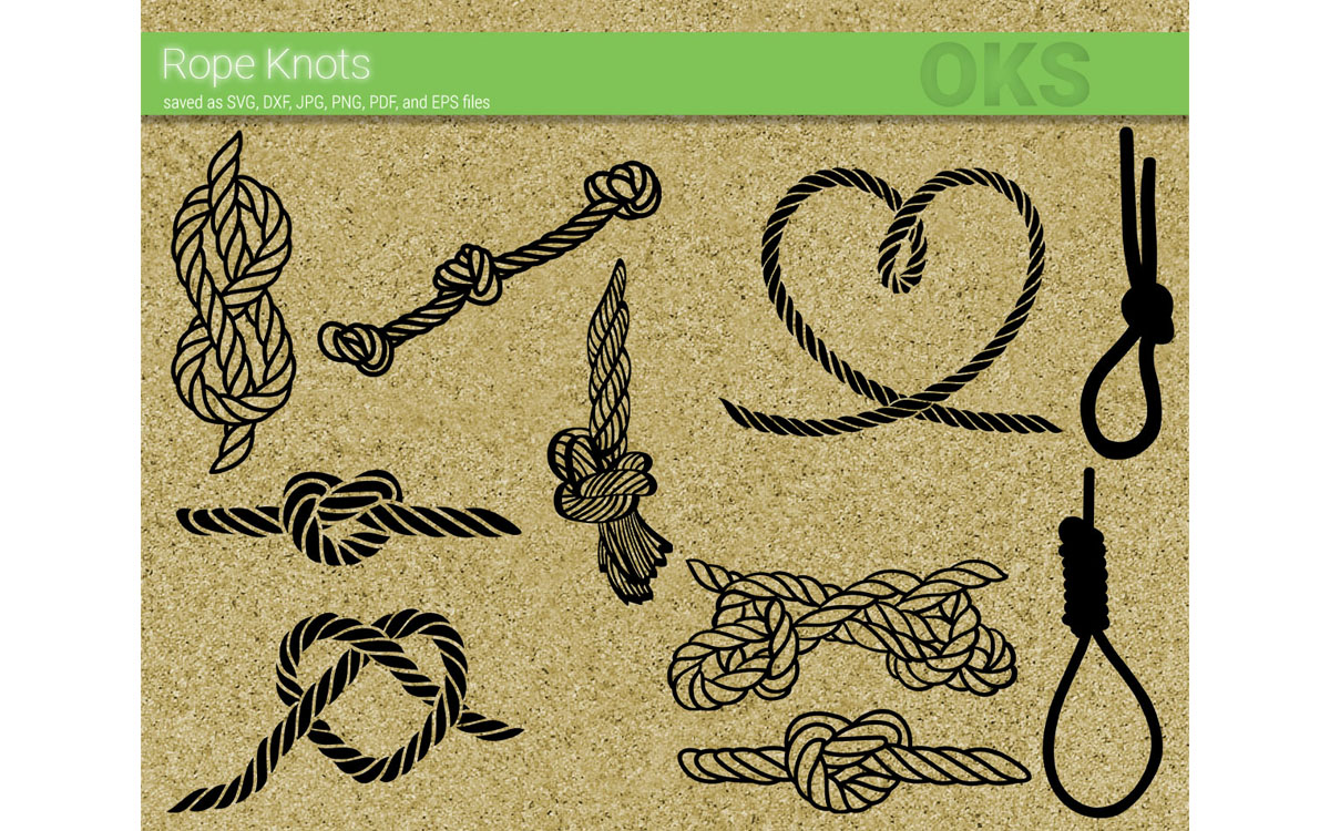 Download Free Rope Knot Bundle Vector Cut File Graphic By Crafteroks for Cricut Explore, Silhouette and other cutting machines.
